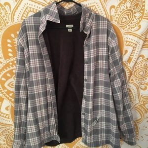 women's LL bean fleece lined flannel
